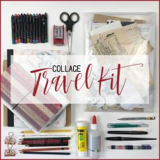 What's in my travel collage kit?