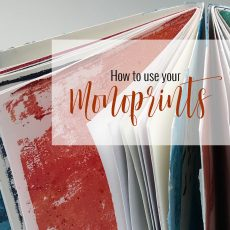How to use your monoprints for journaling?