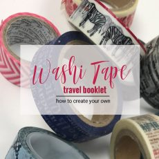 washi tape booklet – How to make your own.