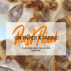 Rust Print On Paper & Fabric